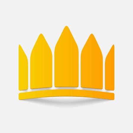 realistic design element: crown Stock Illustratie