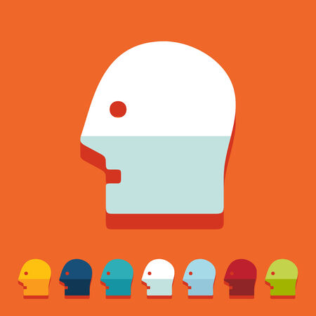 Flat design: head Vector