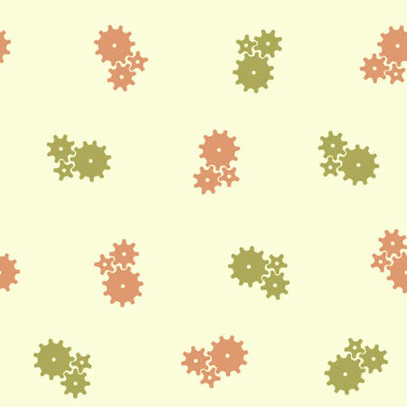 seamless background: cogwheel Vector