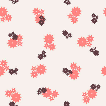 seamless background: cogwheel Vector