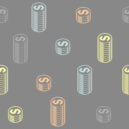 seamless background: money Vector