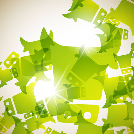abstract background: cow Vector