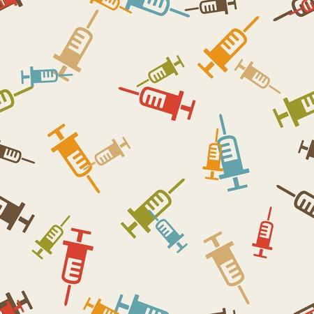 inject: seamless background: syringe Illustration