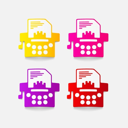 realistic design element: typewriter Stock Vector - 27411645