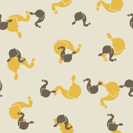seamless background: stomach Vector