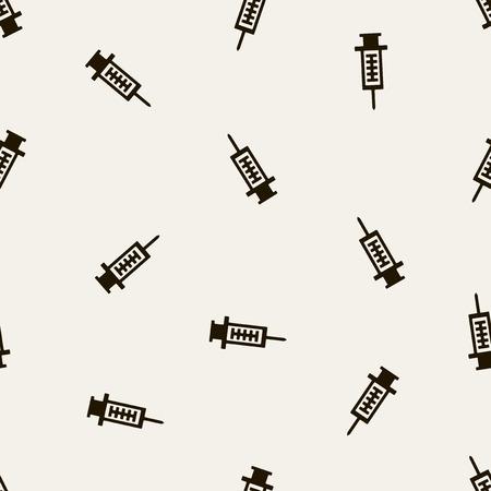 hypodermic needle: seamless background: syringe Illustration