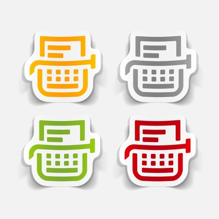 realistic design element: typewriter