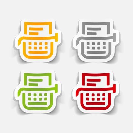 Realistischen Design-Element: Schreibmaschine Standard-Bild - 27409860