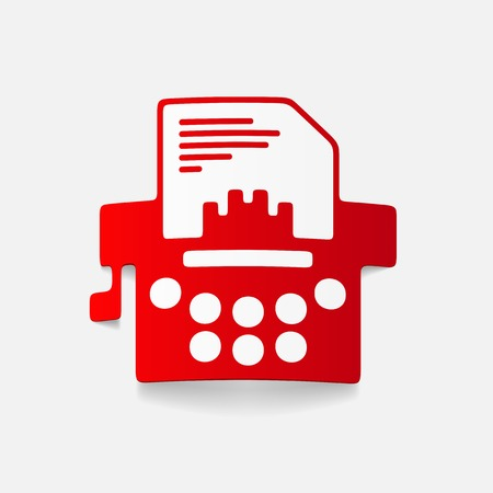 realistic design element: typewriter Vector