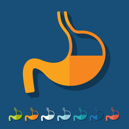 Flat design: stomach Stock Vector - 27409568