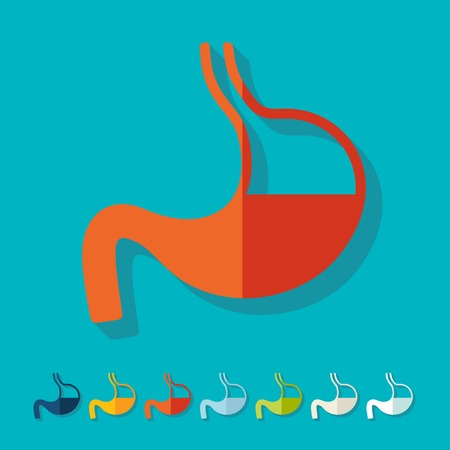 Flat design: stomach Stock Vector - 27409571