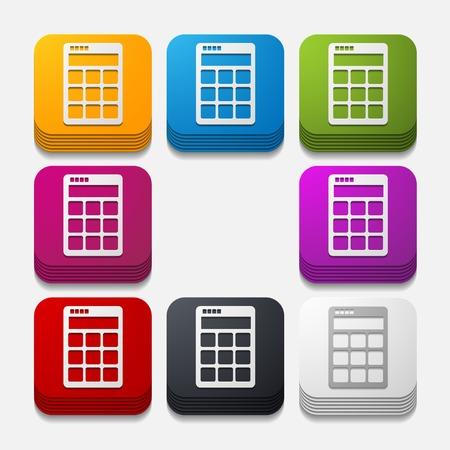 square button: calculator Illustration