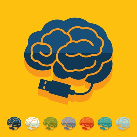 Design piatto: cervello