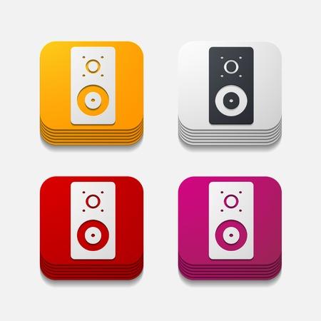 sounding: square button: dynamic Illustration