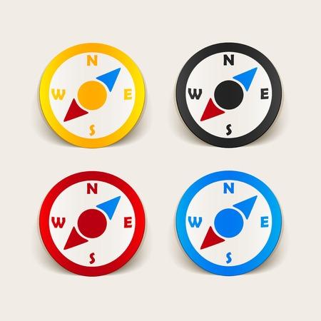 azimuth: realistic design element: compass