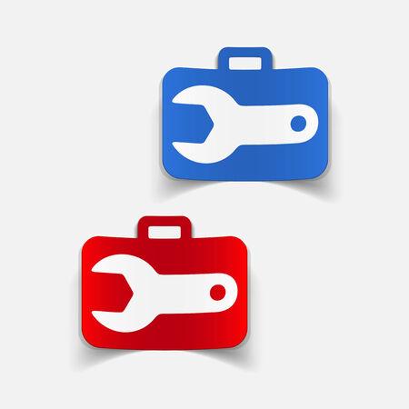 tighten: realistic design element: wrench