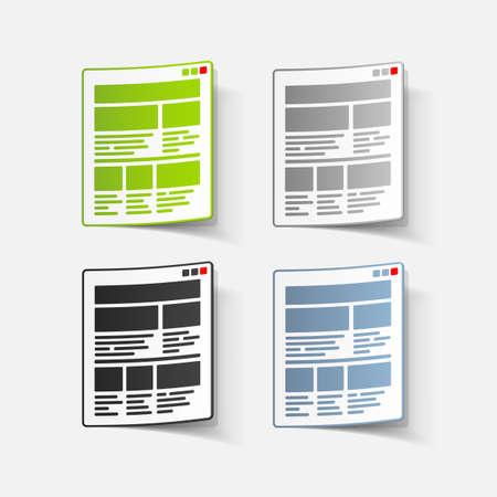 realistic design element: interface Illustration