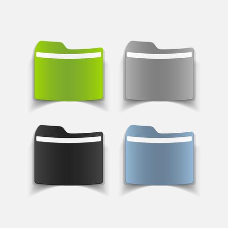 realistic design element: folder Stock Vector - 27635512