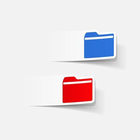 realistic design element: folder Stock Vector - 27635517