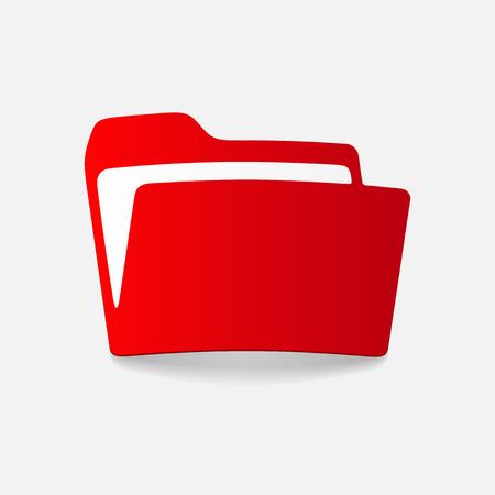 realistic design element: folder Stock Vector - 27635628