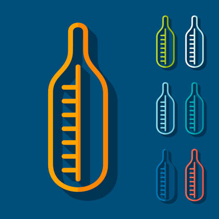 Flat design: thermometer Vector