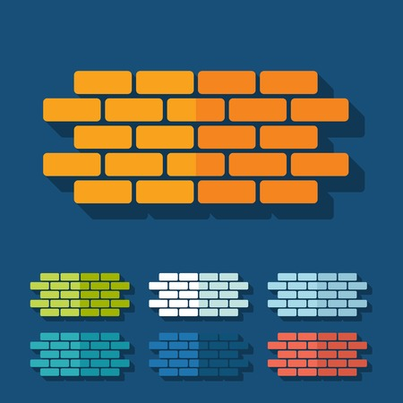 Flat design: brick Vector