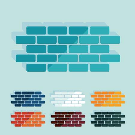 block of flats: Flat design: brick
