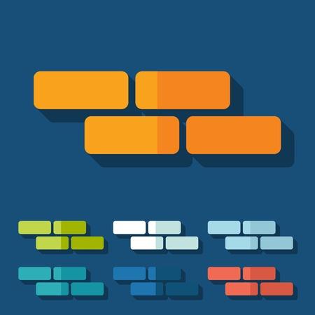 Flat design: brick Vector