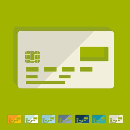 Flat design: card Vector