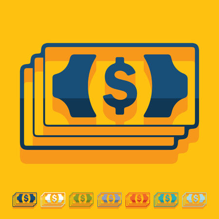 Flat design: money Vector