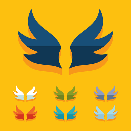 Flat design: wing Vector