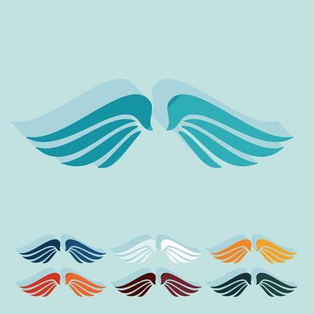 pacification: Flat design: wing Illustration