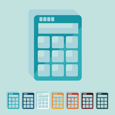 Flat design: calculator Vector