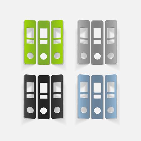 documentation: realistic design element: folder