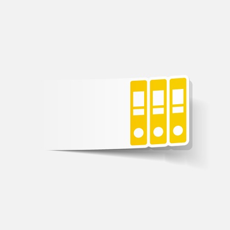 realistic design element: folder Stock Vector - 27637694