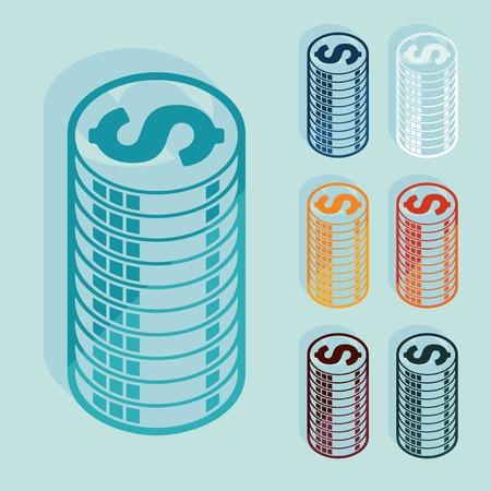 bankroll: Flat design: money