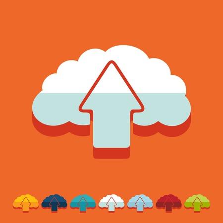 Flat design: cloud Vector