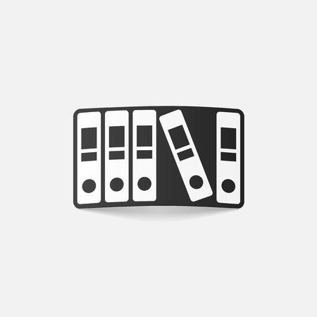 realistic design element: folder Stock Vector - 27638415