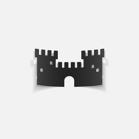 realistic design element: fortress Illustration
