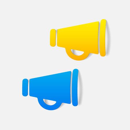 realistic design element: megaphone