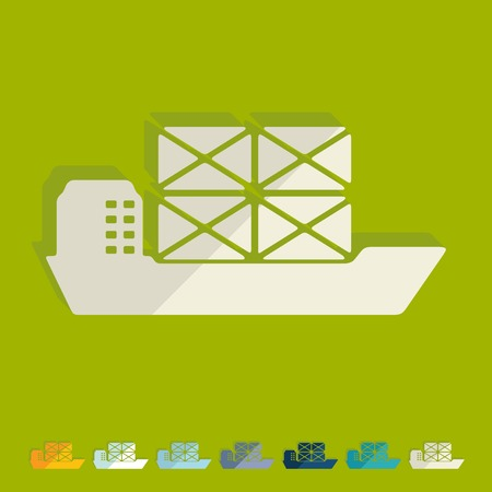 Flat design: ship Vector
