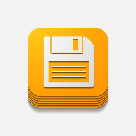 floppy: square button: floppy