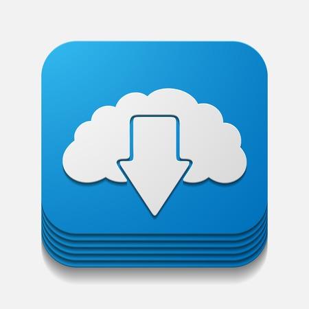 evaporation: square button: cloud
