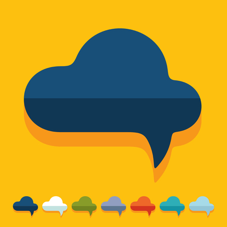 monologue: Flat design: cloud