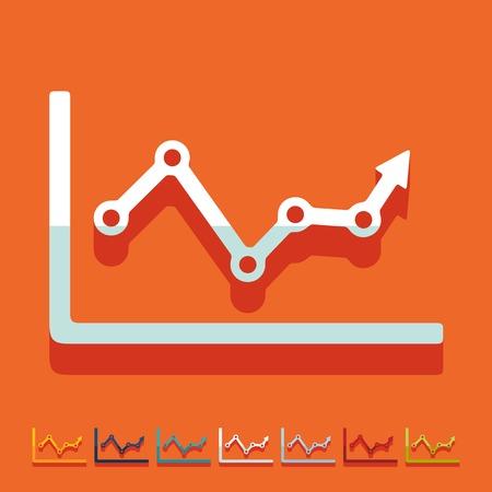 Flat design: chart