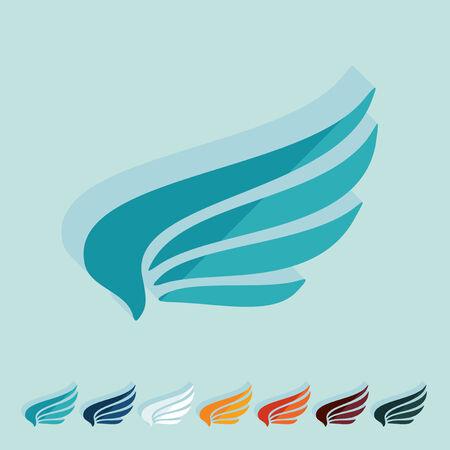 chastity: Flat design: wing Illustration