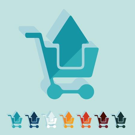 Flat design: shopping Illustration