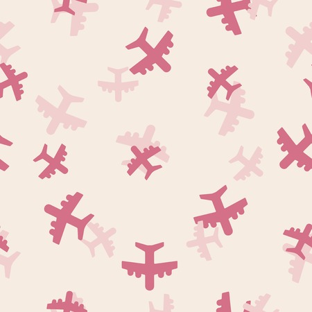 seamless background: plane Vector