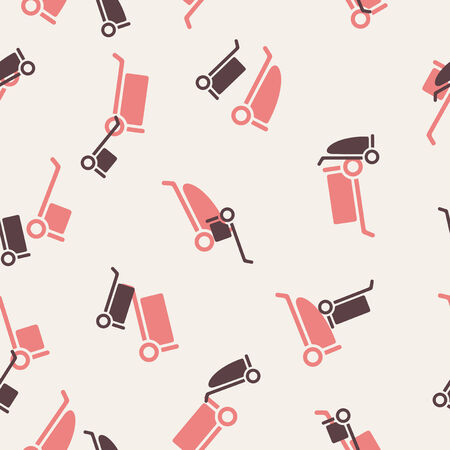 seamless background: trolley Vector