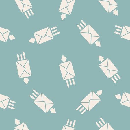 seamless background: envelope Illustration